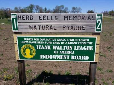 Herb Eells Memorial Natural Prairie Sign
