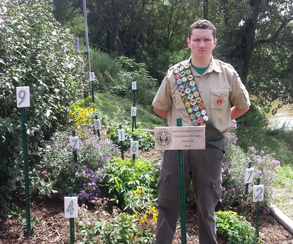 Eagle Scout native plant garden project