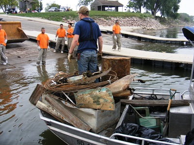 Yankton Area Chapter River Clean Up_IWLA
