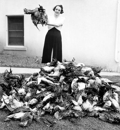 Woman with Dead Birds_USFWS