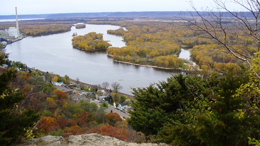 Mississippi River at Alma, Wisconsin