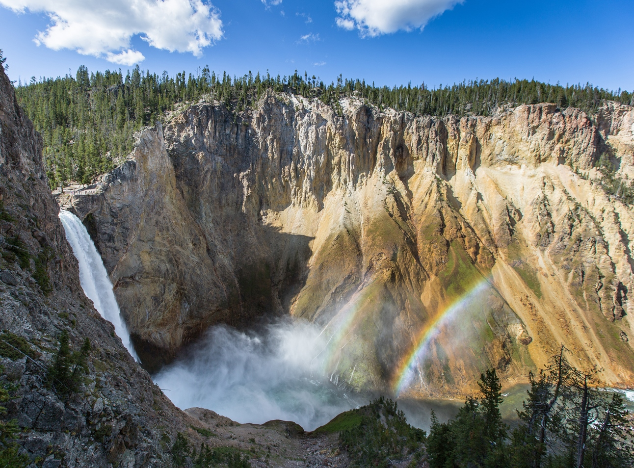 yellowstone_Double rainbow and Lower Falls from Uncle Toms Trail_credit Neal Herbert
