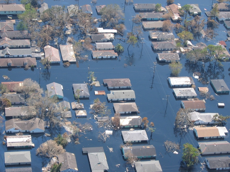 New Orleans post-Katrina. Photo credit: Lieut. Commander Mark Moran, NMAO-AOC