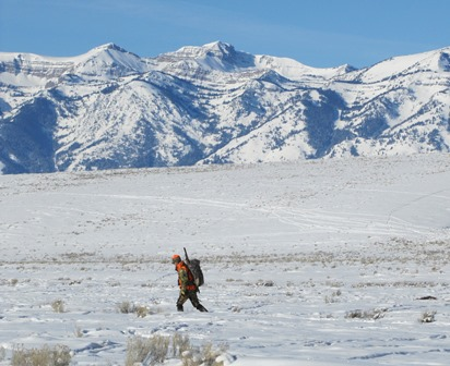 Hunter in National Elk Refuge_credit Lori Iverson USFWS
