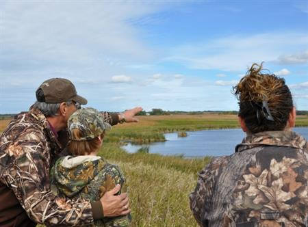 Scouting hunt location in Minnesota. Credit Tina Shaw-USFWS