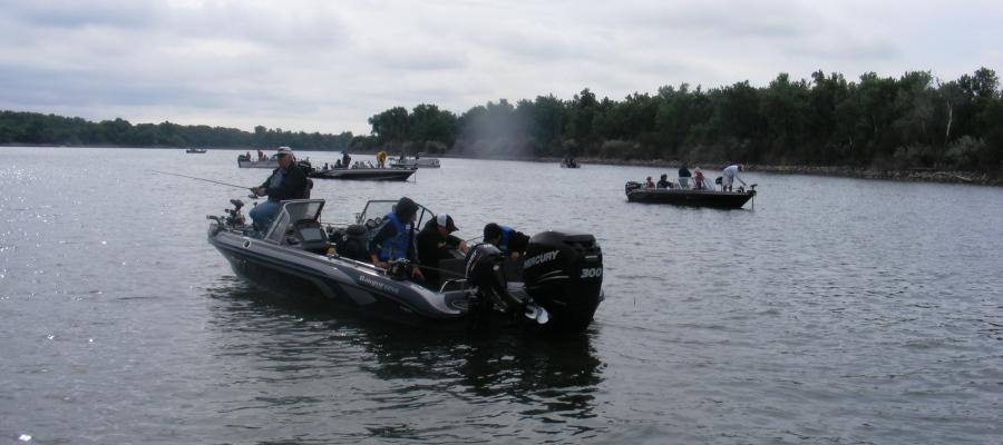 Fishing Lake Sharpe, South Dakota