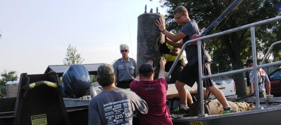 Missouri Lake Sharpe Clean Up