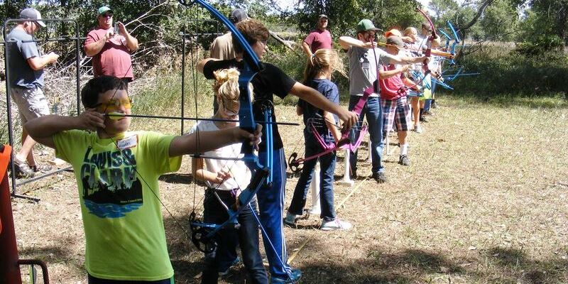 Youth doing archery