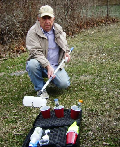 Ken Dufalla Sampling Water in Pennsylvania