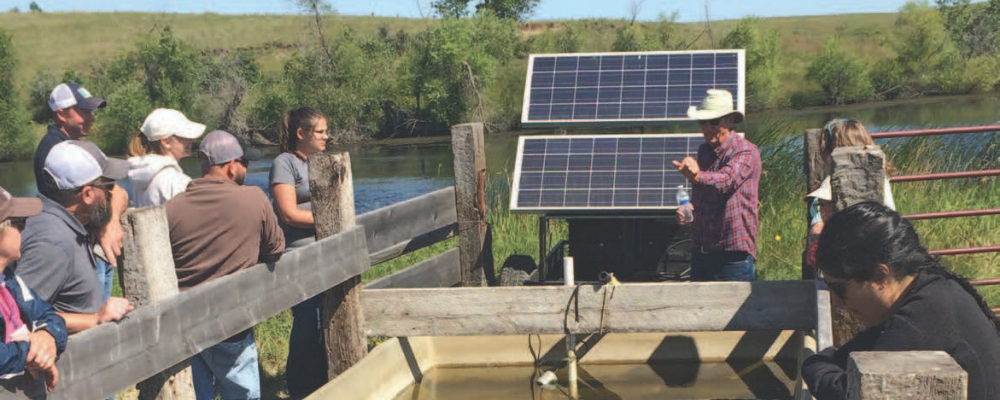 Solar-powered water facility - credit Duane Hovorka