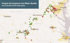 Virginia water quality map