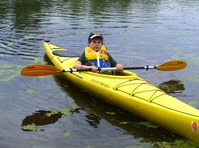Youth Boy Canoeing